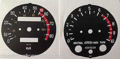 <em>YAMAHA</em> XT500 SPEEDOMETER AND TACHOMETER CLOCK FACE RESTORATION DECALS