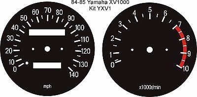 <em>YAMAHA</em> XV1000 TR1 XV920 SPEEDO TACHO REV COUNTER CLOCKS GAUGES DIALS O