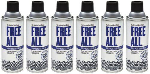 GASOILA RE12 Free All Rust Eater Deep Penetrating Oil 11oz Aerosol, 6 Pack