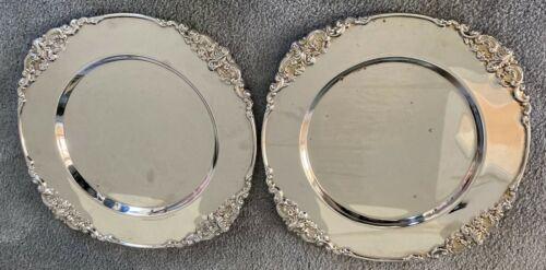 "Set of 14 Vintage Godinger Baroque Silverplate Chargers 12-1/2"" Diameter"