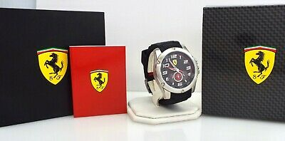 Ferrari - Scuderia 0830088 - Black Silicone Band - Men's Watch ~#3055