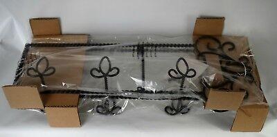 Plate Rack Holder Cast Iron Southern Living New w/Box #40643 Horizontal Highland Iron Plate Holder