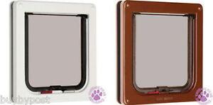 CAT-MATE-FLAP-2-WAY-LOCKING-PET-DOOR-WHITE-OR-BROWN-304