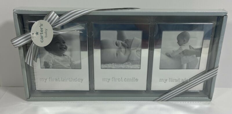 Carters Baby Nursery Photo Picture Frames Set of 3 NIB Baby