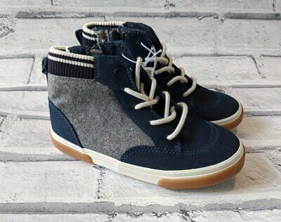 Old Navy Toddler Boys (New Toddler Boys Old Navy Blue & Gray High Top Sneaker Shoe Size)