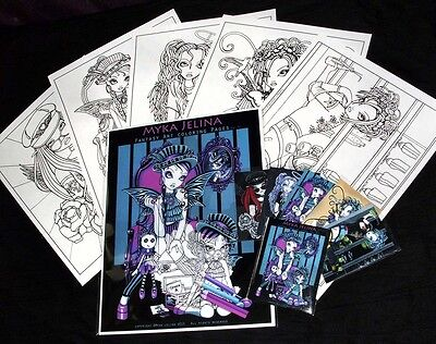 Fairy Art Adult Coloring Fantasy Angel Roller Derby Myka Art Trading Card Set 2 Fairy Art Card