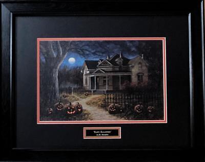 Jon McNaughton Happy Halloween Pumpkins Art Print Framed 24 x - Jon Mcnaughton Halloween Prints