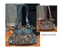 Kathy Van Zeeland Bag/ Purse in Pink or Teal Blue