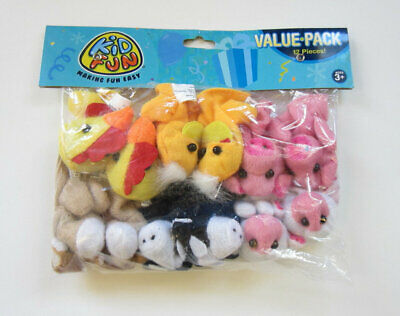 Farm Animal Party Favors (12 Farm Animal Kid Finger Puppets Barnyard Party Goody Bag Favor Pinata)