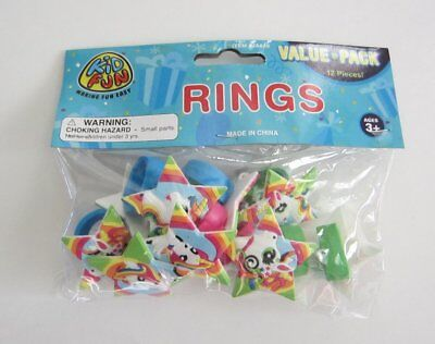 12 Unicorn Rubber Rings Princess Jewelry Birthday Party Goody Bag Pinata Favor ](Princess Party Pinata)