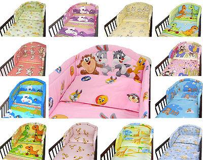 Gepolsteter Nestchen für Gitterbett und Kinderbett Kinderzimmer Baby _ UK