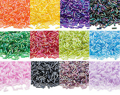 Lot of 1000 Ming Tree Glass Bugle Tube Bead Seed Beads 6mm Value Pack
