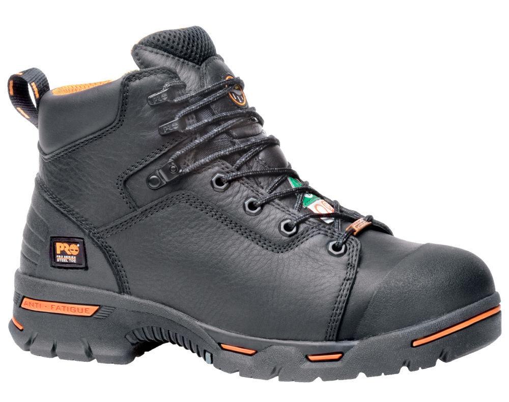 "Men's Timberland Pro Endurance 6"" Steel Toe Leather Black 47592"
