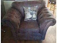 Stunning Grey Armchair*buttoned arms*