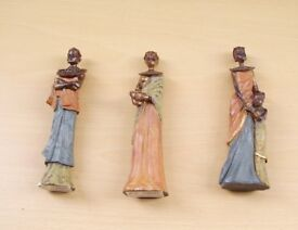 Three African Masai figures all different. Brand New still have boxes they came in.