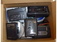 Portable audio players; MP3, CD, Cassette & Radio - 17 in total