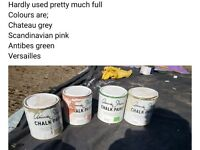 Four tins Annie Sloan paint hardly used