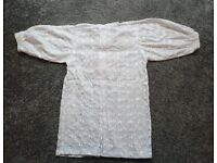 """Girls Scottish broderie anglaise blouse: 24"""" chest"""