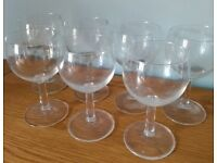 7 Wine Glasses in Used Condition