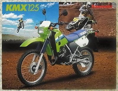 KAWASAKI KMX125 MOTORCYCLE Sales Brochure c1986 #99943-1655