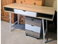 Desk and draw set