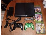 Microsoft Xbox One console, 2 wired controllers + 3 games, unboxed