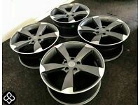 """BRAND NEW 18"""" 19"""" AUDI SLINE STYLE ALLOY WHEELS - ALSO AVAILABLE WITH TYRES - 5 x 112"""