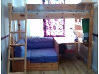 Thuka bunk bed with desk and chair bed