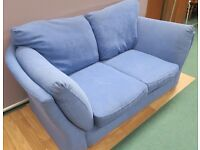 Beautiful and Comfy Blue 2 seater Sofa (Local delivery available £5-£10)