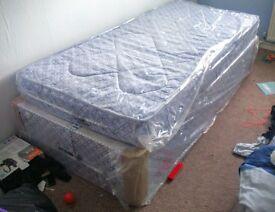 BRAND NEW! 2x Single Divan beds +mattresses