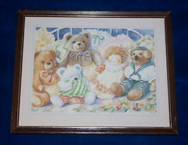 Teddy Bear Picture. Perfect for a nursery / Childs Bedroom. Superb Condition.