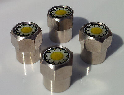 DAISIES DAISY FLOWER ALUMINIUM TYRE VALVE CAPS ALLOY FOR CAR TIRE WHEEL