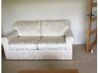 Very Comfortable, well made Cream Sofa Bed, washable zip cushions