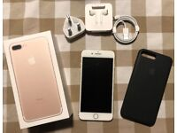 Apple iPhone 7+ 256GB Gold & Silver - AppleCare+ (2 remaining incidents), Pristine, SIM Free.