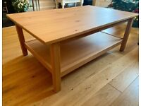 IKEA HEMNES - Coffee Table, solid pine/light brown – excellent condition