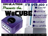 Nintendo Wii☆1 TB HDD☆ALL LEADS☆FULL GAMECUBE COLLECTION☆150 Wii GAMES
