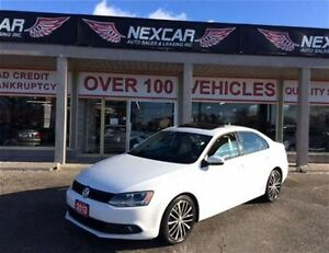 2013 Volkswagen Jetta 2.5L SPORTLINE 5 SPEED 2 TONE LEATHER SUNR