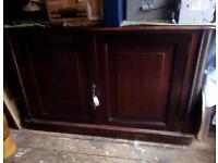 Old mahogany sideboard