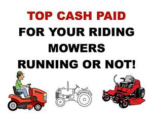 TOP CASH PAID FOR YOUR RIDING MOWERS, RUNNING OR NOT Peterborough Peterborough Area image 1