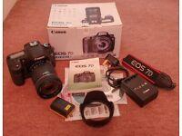 Canon 7D Kit c/w Canon EF-S 18-135mm IS Lens for sale  Widnes, Cheshire