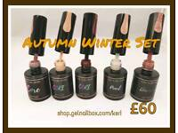 Autumn winter gel polish collection