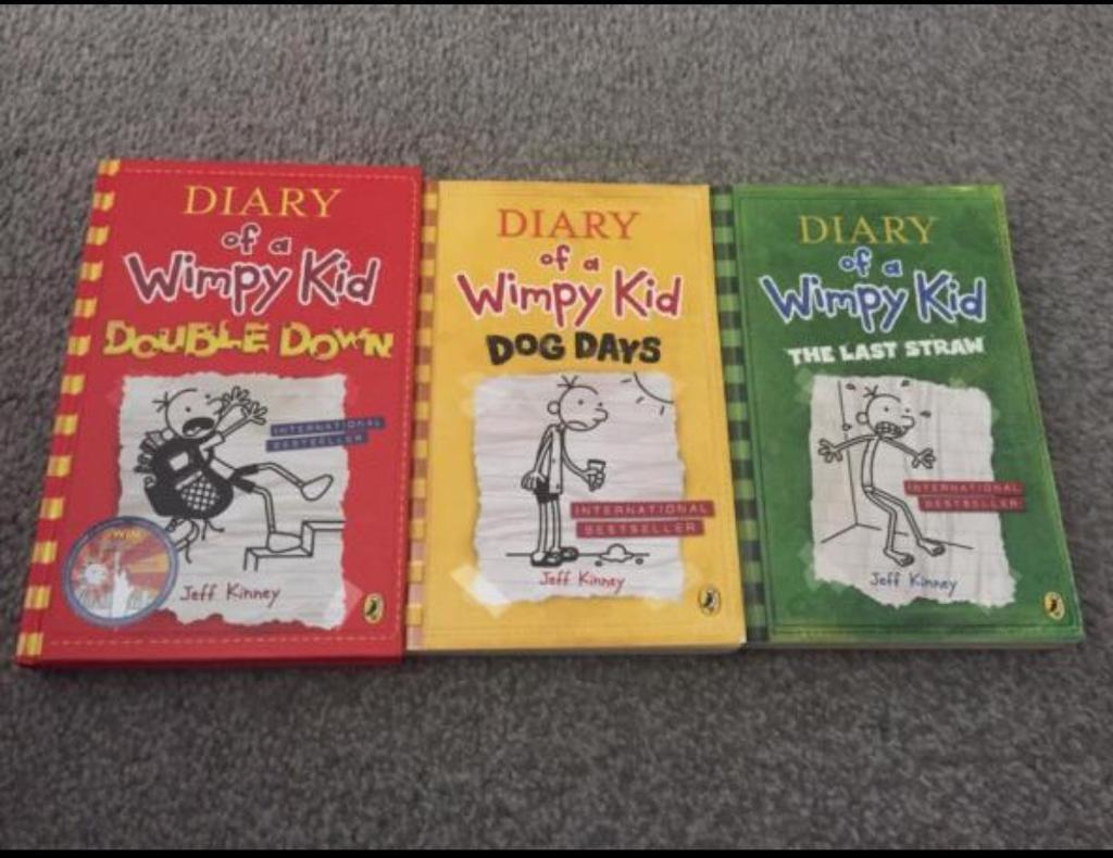 3 X Diary Of a Wimpy Kid Books Excellent Condition