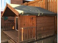 Double Dog Kennel with Veranda