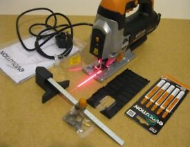 RAGE7-S: 710W Corded Laser Jigsaw with Variable Speed Control.
