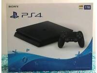 PS4 Slim 1TB Boxed As New inc. Warranty