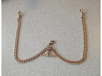 """9ct Gold Antique Albert Chain, 46g, 17"""""""