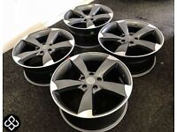 """BRAND NEW 18"""" AUDI SLINE STYLE ALLOY WHEELS - ALSO AVAILABLE WITH TYRES - 5 x 112"""