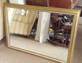 Gorgeous Quality Large Heavy Bevelled Mirror 103 x 72 cms