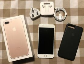Apple iPhone 7+ 256GB Gold & Silver - AppleCare+ (2 remaining incidents), SIM Free.