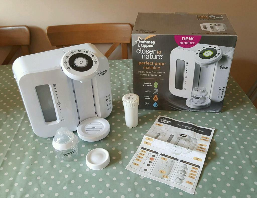 Tommee Tippee Perfect Prep Machine In White With Box Instructions